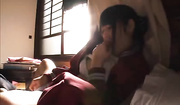 naughty japanese tickles her