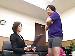 horny japanese office lady
