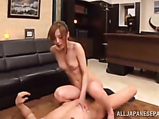 naughty chick strokes guy