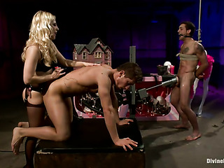 blonde mistress torturing her