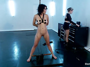 breasts, femdom, tied, toy