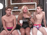 blonde, milf, mom, spanish