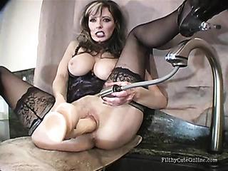 big-boobed milf heels cums