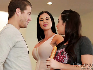lucky guy hot threesome