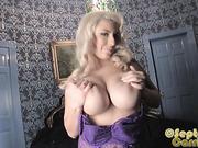 blonde, individual model, lady, tits