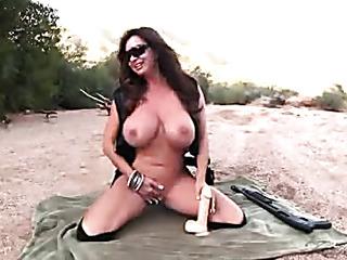 busty momma goes nude