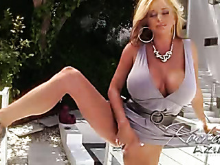 blonde woman with big