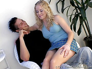 blonde, first time, shy, teen