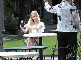 blonde teen sucking her