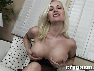 attractive blonde strip teaser