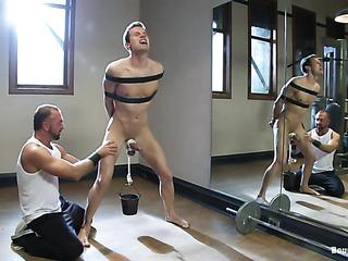 stud belt bondage gets