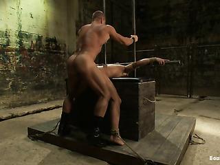 muscular master leather punishing