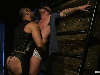 gagged and blindfolded bald