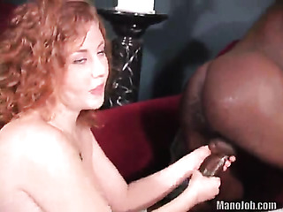 curly redhead teases with