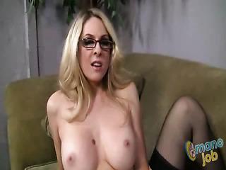 beautiful big-breasted girl makes
