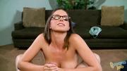 horny tattoed babe glasses