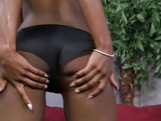 ebony, handjob
