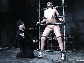brunette bitch tortured with