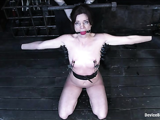 small-titted blondie with bound