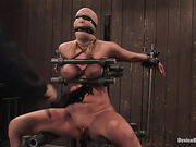 bondage, breasts, natural, tan