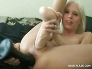 anal, asshole, blonde, huge toy