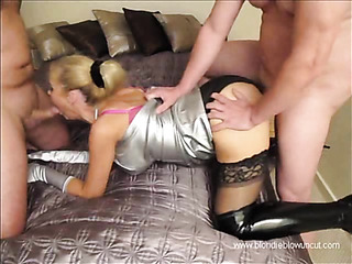 horny blonde babe metallic