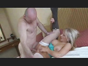blonde, individual model, old man, pussy