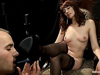 hot brunette mistress stockings