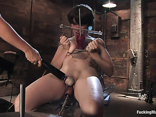short haired brunette bondage