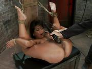 beautiful, bondage, bound, cum