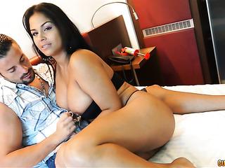 horny latina the bed