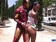 ebony, hardcore, superhero