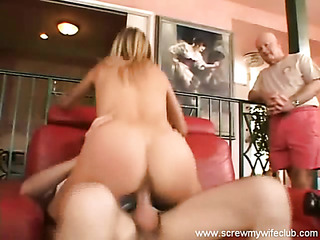blonde wifey riding thick