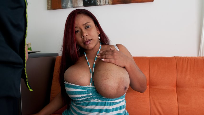Huge Fake Tits Interracial