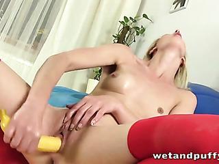 nasty blonde fucks her