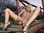 blonde, hardcore, pussy, solo