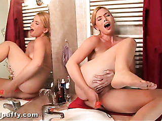 small titted blonde bathroom