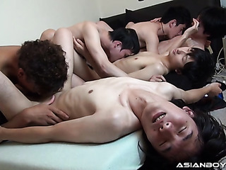 asian guys got together