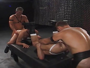 gay, leather, orgy