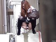 japanese, pissing, public, voyeur