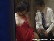 brunette, pussy, voyeur