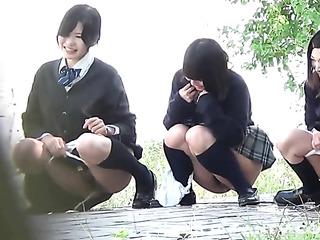 tres traviesas japonesas nenas