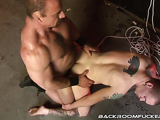 beautiful guy tied while