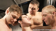 four horny gay men