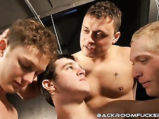 four horny gay men