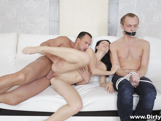 bound and gagged guy