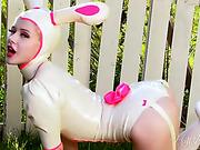 big ass, bunny, erotica, white