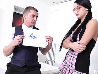 teacher spanks his student