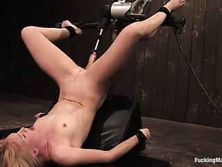 tied blonde slave gets