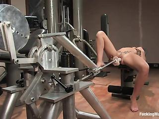 inked slut stretching her